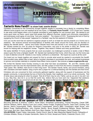 fall newsletter house 09