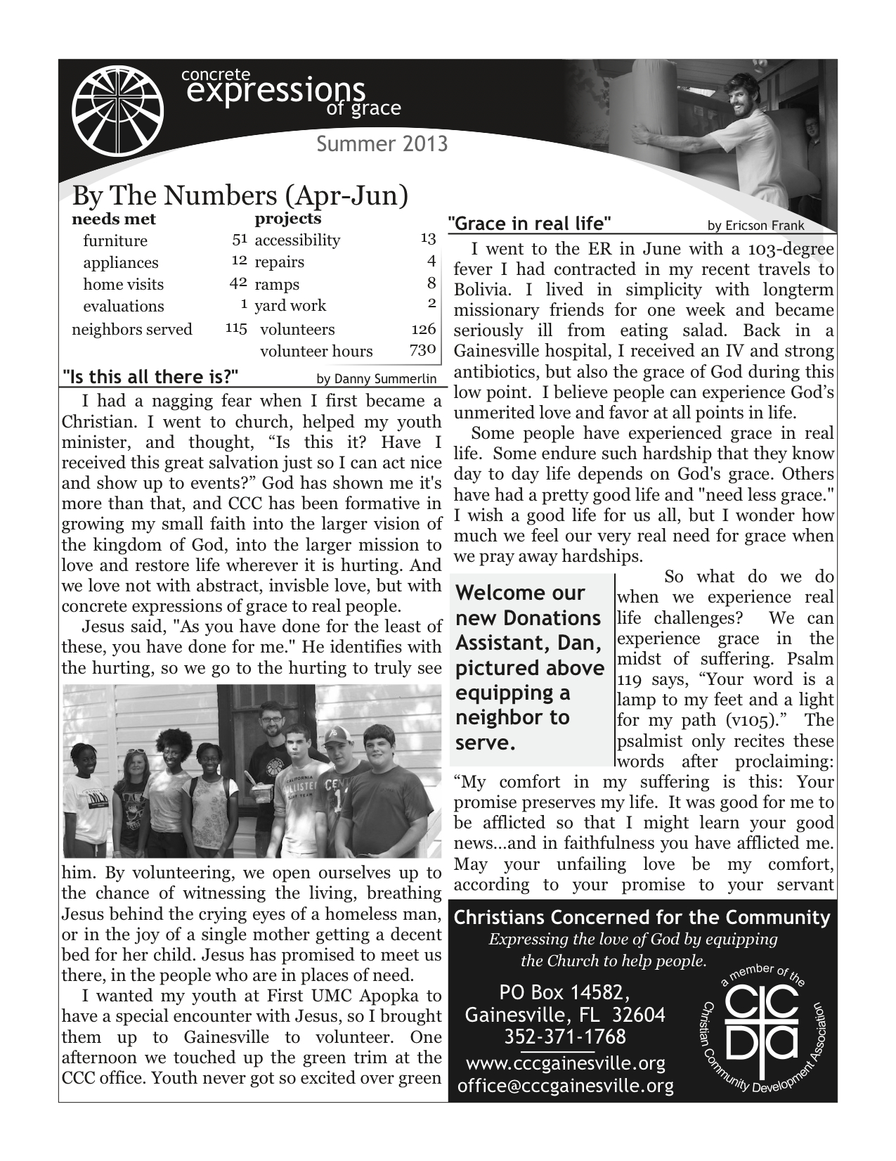 2013 Summer Newsletter pg1